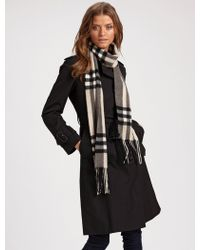 Burberry Skinny Giant Check Scarf - Lyst
