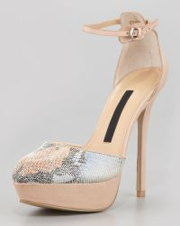 French Connection Remi Snakeprint Platform Pumps - Lyst