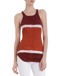 Gilda Midani - Colorblock Stripes Tank - Lyst