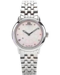 88 Rue Du Rhone - Womens Mother Of Pearl Diamond Bracelet Watch - Lyst