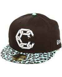 Crooks and Castles - The New Chain C Jungle Fitted Hat in Black Tiffany Cheetah - Lyst