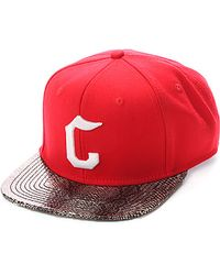 Crooks and Castles | The Snake Eyes C Snapback in Red | Lyst