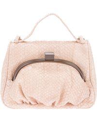 Erva Contrast-Clasp Leather Shoulder Bag - Lyst