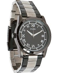 Flud Watches - The Moment Watch in Black Silver - Lyst