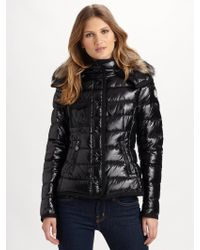 moncler raccoon-trimmed quilted puffer jacket