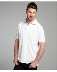 Robert Graham White Pique Cotton Jacks Short Sleeve Polo - Lyst