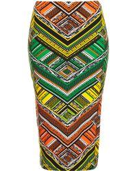 Topshop Aztec Print Tube Skirt - Lyst