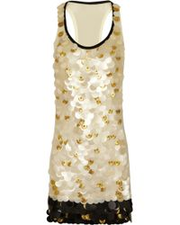 Vionnet Paillette Embellished Silk Dress - Lyst