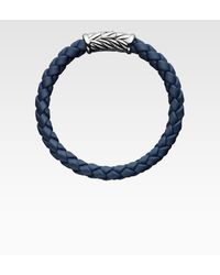David Yurman Sterling Silver Braided Rubber Bracelet - Lyst