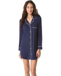 Eberjey Gisele Sleep Shirt - Navy - Lyst