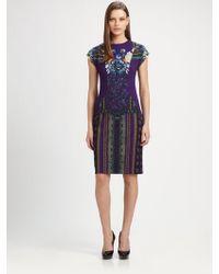 Etro Capsleeve Dress - Lyst