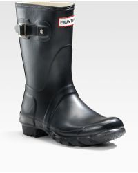 Hunter Short Rain Boots - Lyst