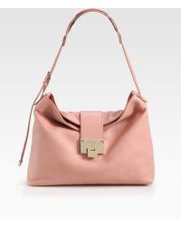 Jimmy Choo Rachel Grainy Calf Leather Shoulder Bag - Lyst