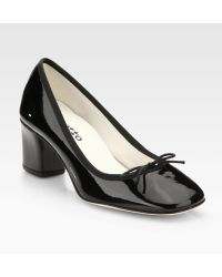 Repetto Patent Leather Bow Pumps - Lyst