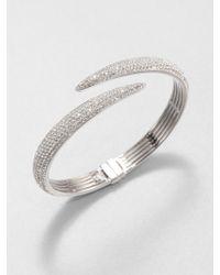Adriana Orsini - Pavé Crystal Tail Bangle Bracelet - Lyst