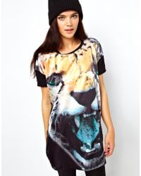 ASOS Collection | Tshirt with Woven Photographic Cheetah Print | Lyst