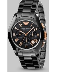 Emporio Armani Ceramica Chronograph Watch - Lyst