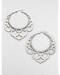 John Hardy Naga Sterling Silver Large Lace Hoop Earrings/2.2 - Lyst