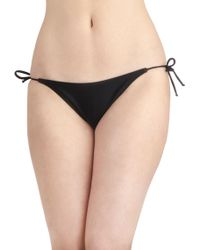 ModCloth Bayside Basics Swimsuit Bottom in Black - Lyst
