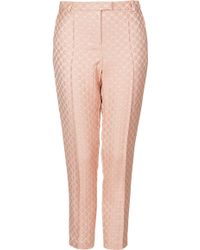 Topshop Tile Cigarette Trousers - Lyst