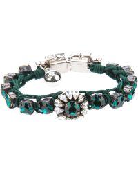 Shourouk Gem Embellished Braided Bracelet - Lyst