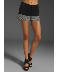 Joie Bismark Stripe Short in Caviar - Lyst