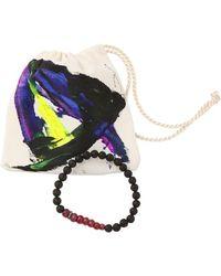 Ocnarf Sairutsa - Ruby Diamond and Lava Bracelet - Lyst