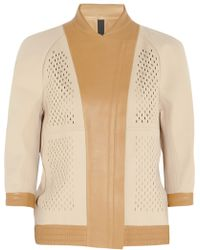 Reed Krakoff - Perforated Neoprene and Leather Jacket - Lyst