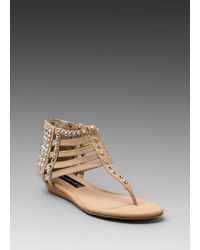 Steven Indyana Sandal in Blush Leather - Lyst