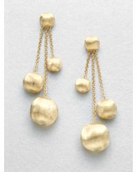 Marco Bicego - Africa 18k Yellow Gold Three-strand Ball Drop Earrings - Lyst