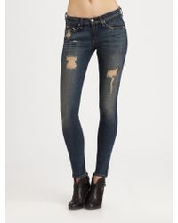 Rag & Bone The Skinny Distressed Jeans - Lyst