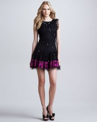 RED Valentino Embellished Dropped Waist Dress - Lyst