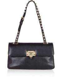 Valentino Studded Leather Shoulder Bag - Lyst