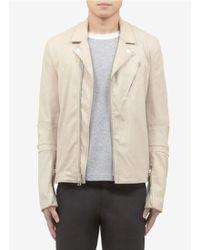 3.1 Phillip Lim Textured Leather Biker Jacket - Lyst
