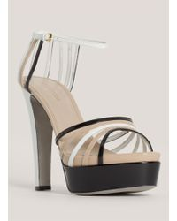 Sergio Rossi Patentleather Strappy Sandals - Lyst
