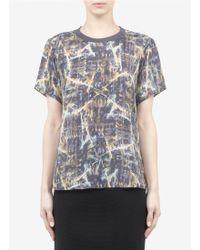 Theyskens' Theory Bonit Printed Silk Tshirt - Lyst