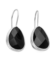 Toosis Black Onyx Drop Earrings in Silver - Lyst