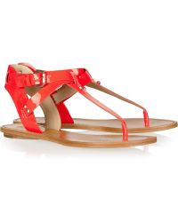 Belle By Sigerson Morrison - Randy Patentleather Sandals - Lyst