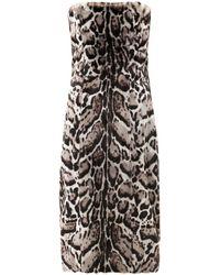 Christopher Kane Jaguarprint Goat Hair and Leather Dress - Lyst