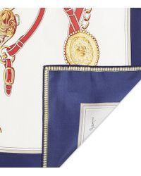Joules - Clarence Equestrian Silk Scarf - Lyst