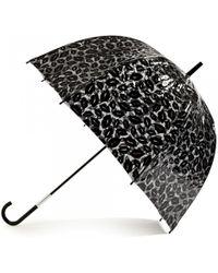Lulu Guinness Black Lips Birdcage Umbrella - Lyst
