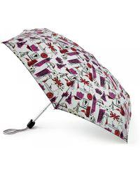 Lulu Guinness Grey London Print Tiny Umbrella pink - Lyst