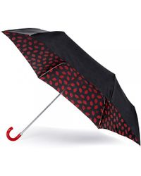 Lulu Guinness Red Lips Superslim Umbrella red - Lyst