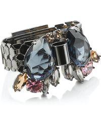 Mawi | Teardrop Crystal Watch Strap Bracelet | Lyst