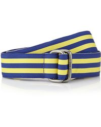 Polo Ralph Lauren Striped Grosgrain Belt - Lyst