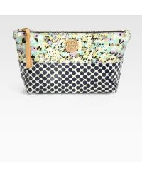 Tory Burch Slouchy Cosmetic Case - Lyst