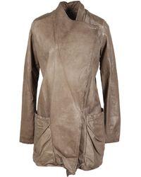 Giorgio Brato Leather Outerwear - Lyst