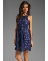 Nanette Lepore Secret Escape Dress in Pansyindigo blue - Lyst