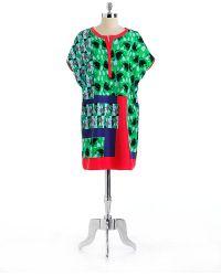 Nine West Printed Dolman Short Sleeved Dress - Lyst