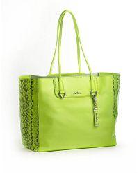 Sam Edelman Giselle Leather Tote Bag green - Lyst
